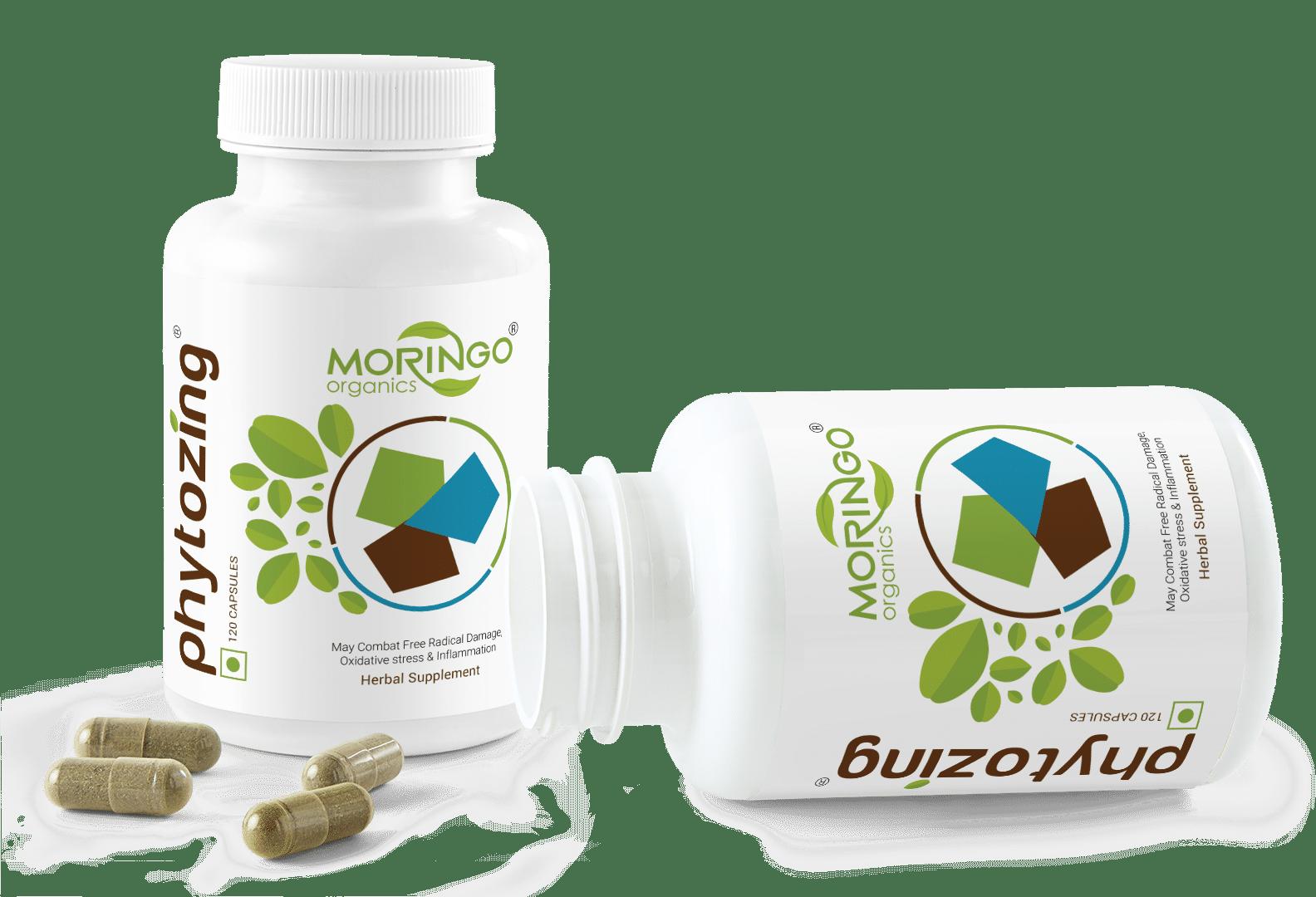 Twin Bottle Capsules - Moringo Organics