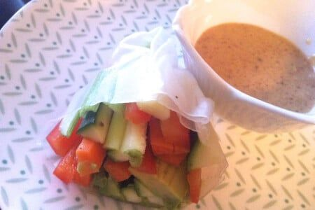 Eat Clean Recipe: Crunchy Raw Wrap with Almond Sauce thumbnail