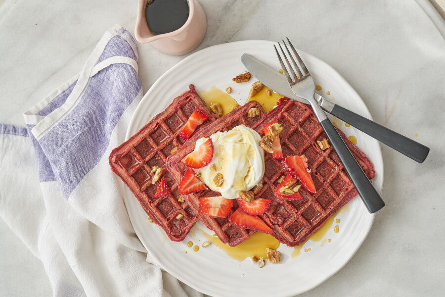 Beet Strawberry Waffles thumbnail