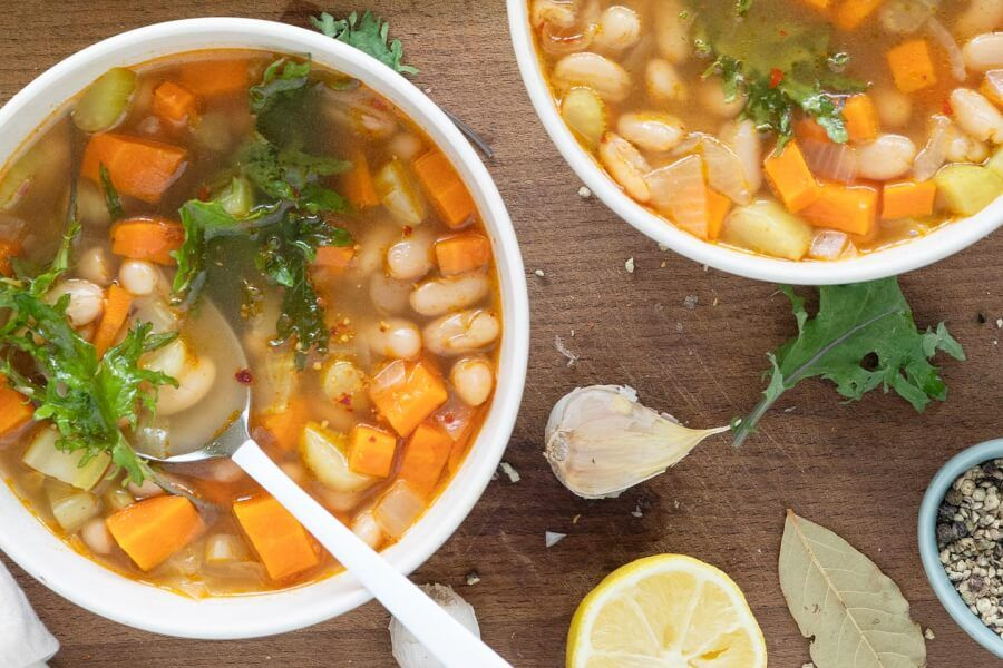 Smoky White Bean Kale Soup thumbnail