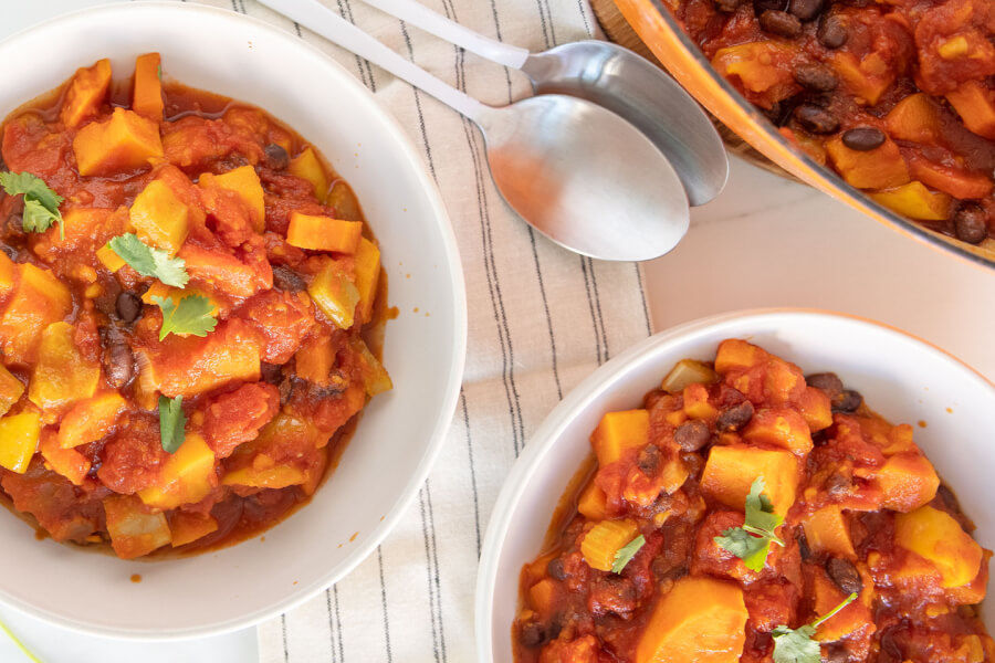Sweet Potato Black Bean Chili thumbnail