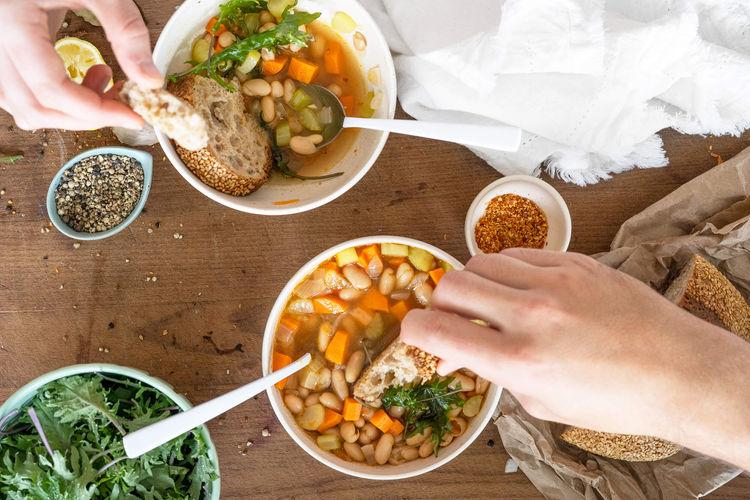 soup with sourdough