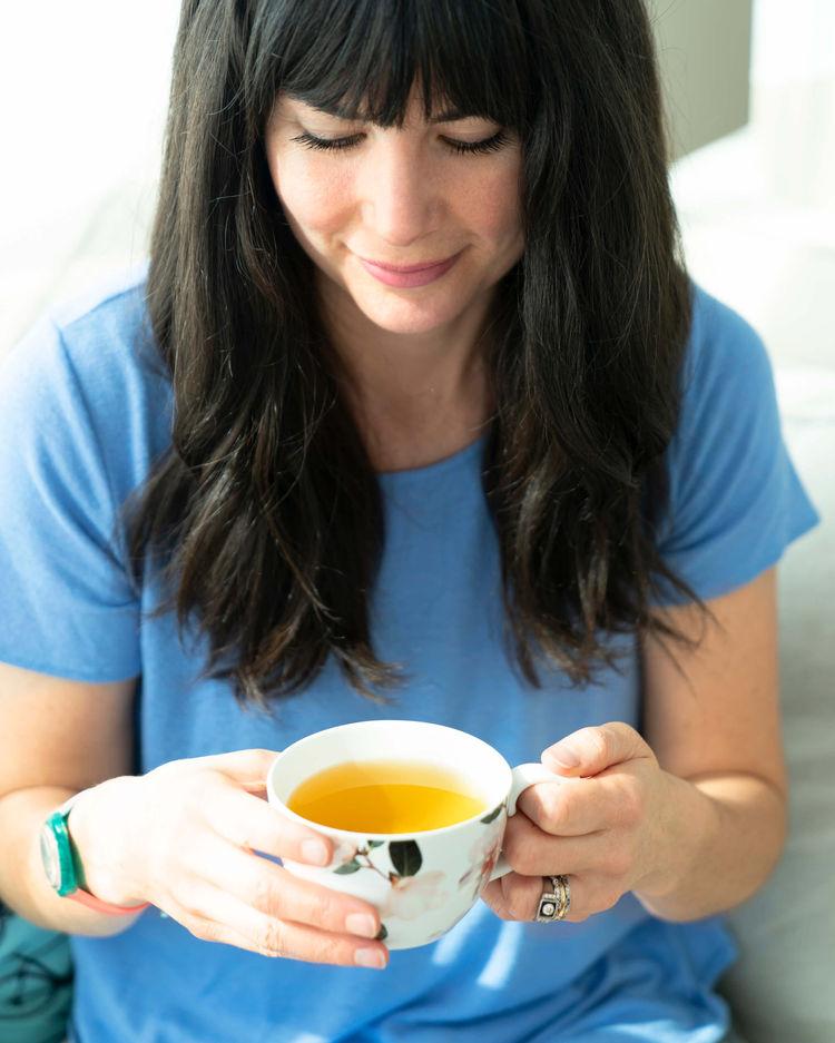 Joy McCarthy Drinking Tea