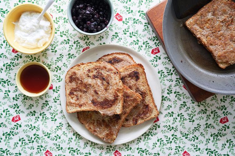 egg-free banana french toast