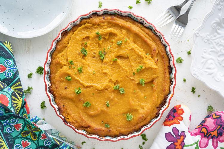 butternut squash lentil pie
