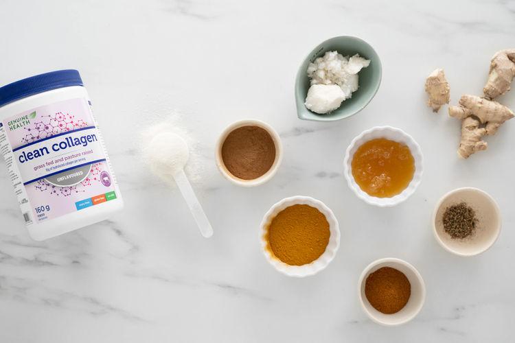 ingredients in turmeric collagen latte
