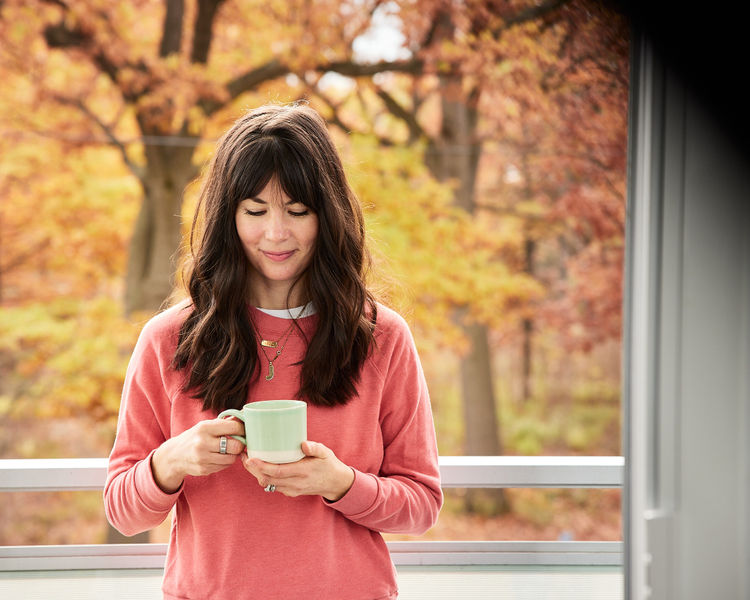 Joy McCarthy Sipping Tea