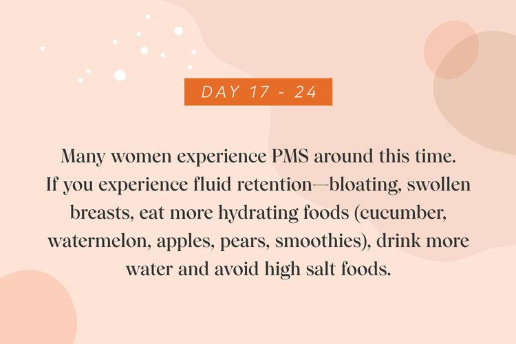 Day 17-24 menstruating woman