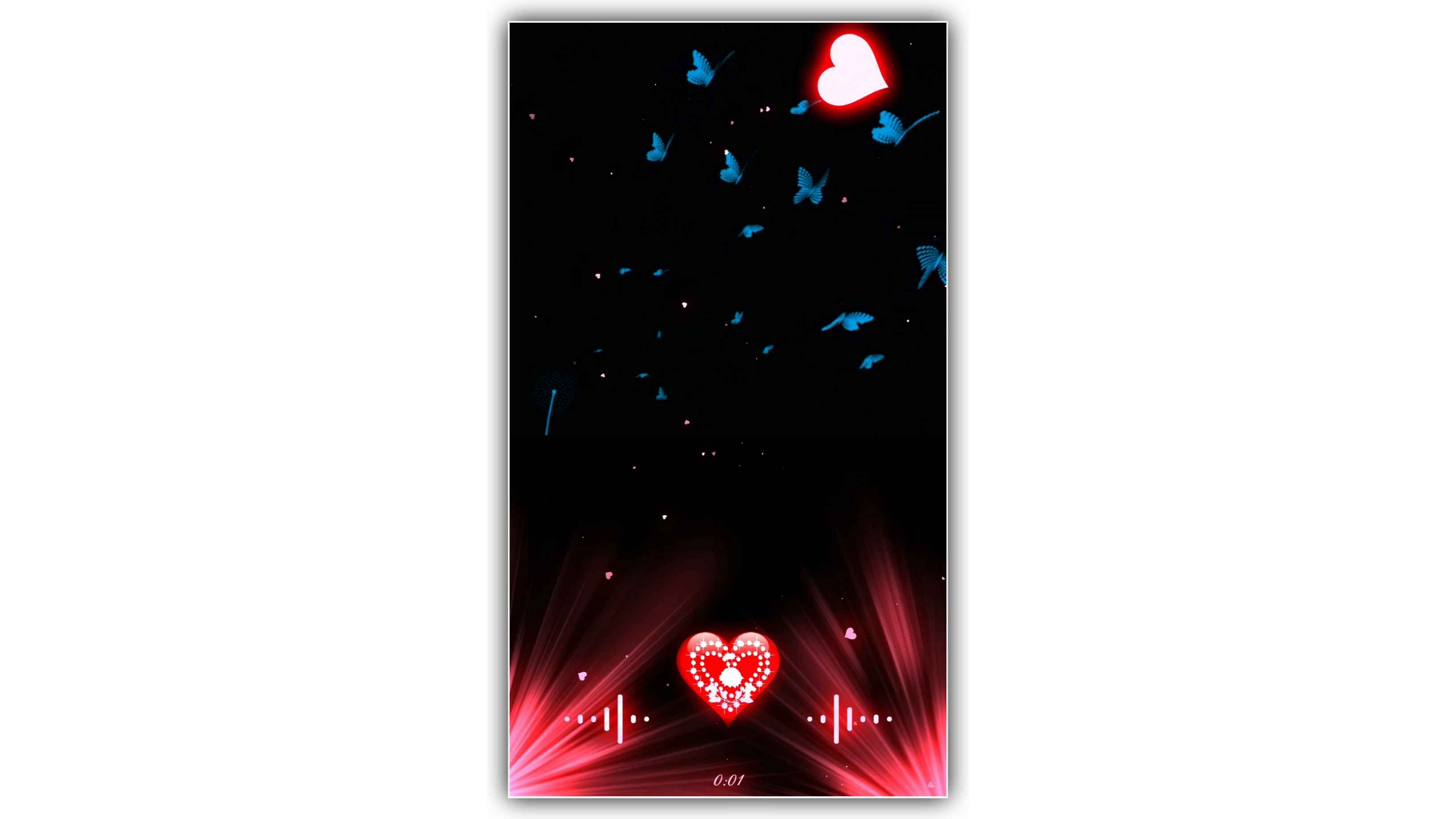 Love Heart Particles Galaxy Effect Video