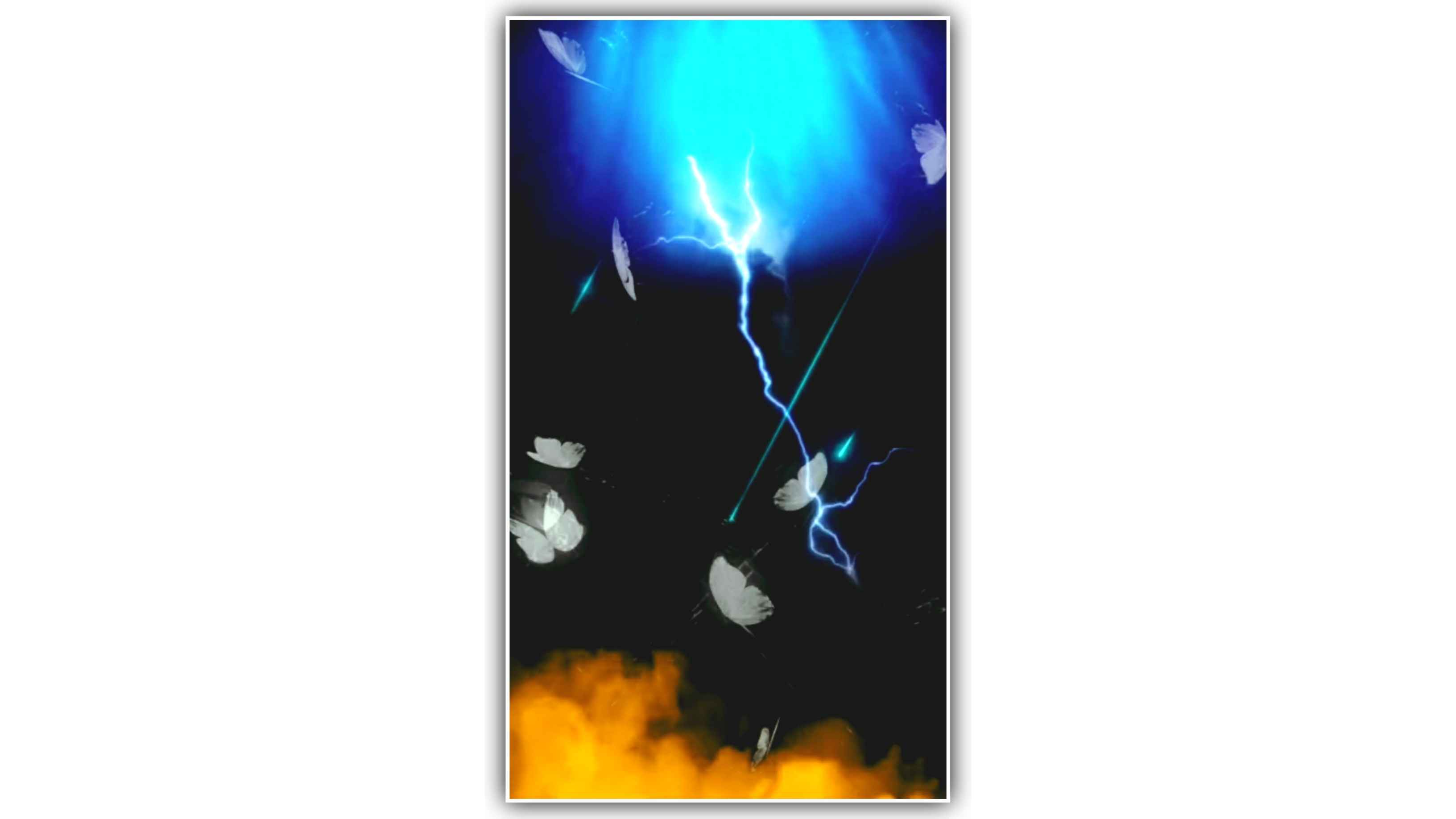 Butterfly Particles Thunder Effect Background Full Screen HD For Kinemaster (1080×1920)