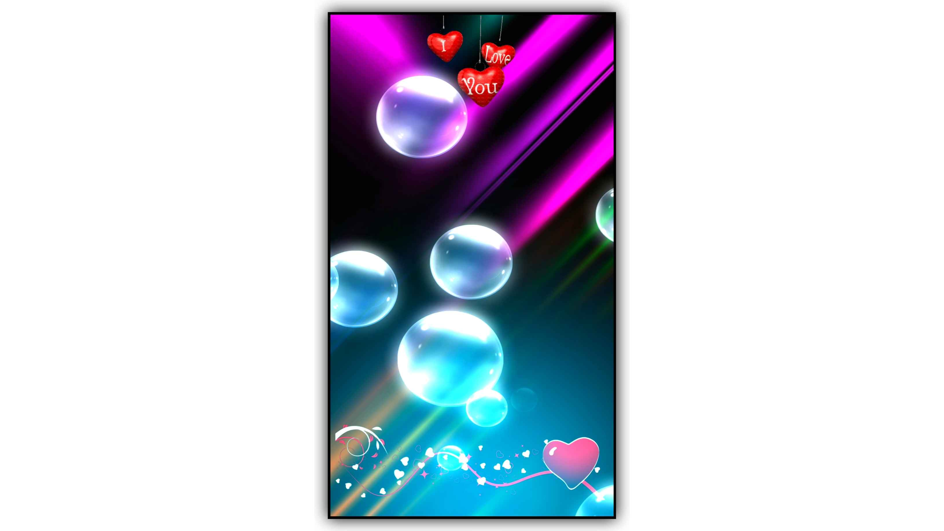 Water Bubbles Particles Background Effect HD Video Full Screen