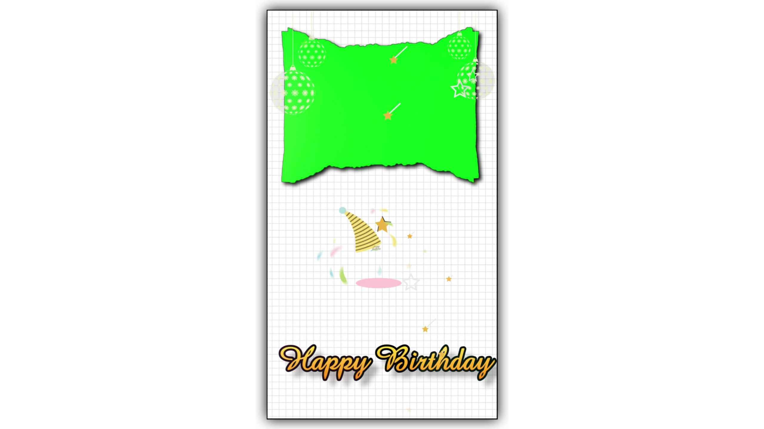 Happy Birthday Green Screen Text Reveal Background Video Full HD