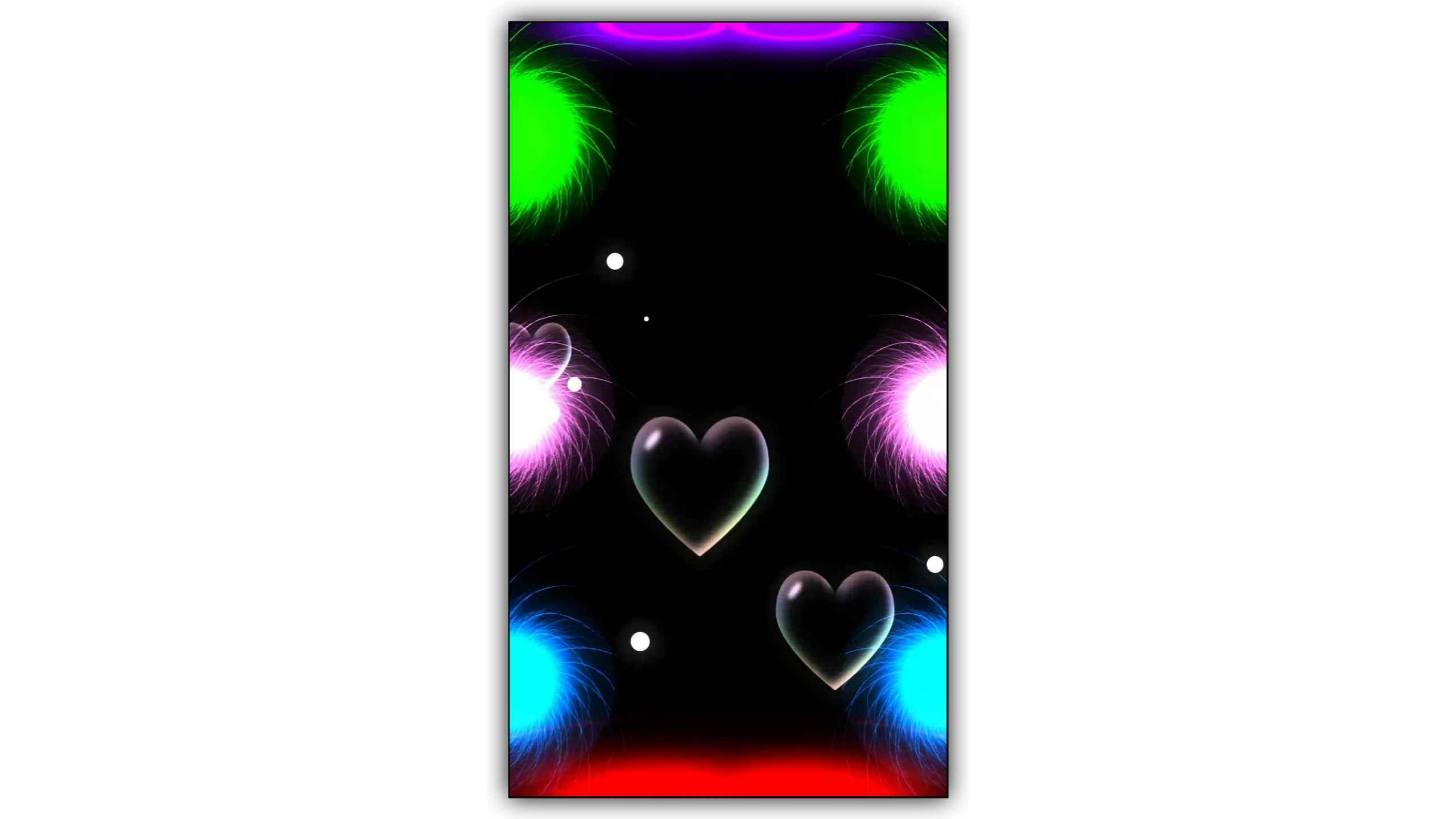 Galaxy Color Light Effect With Water Bubbles Heart Particles Background Full Screen Video Free Download