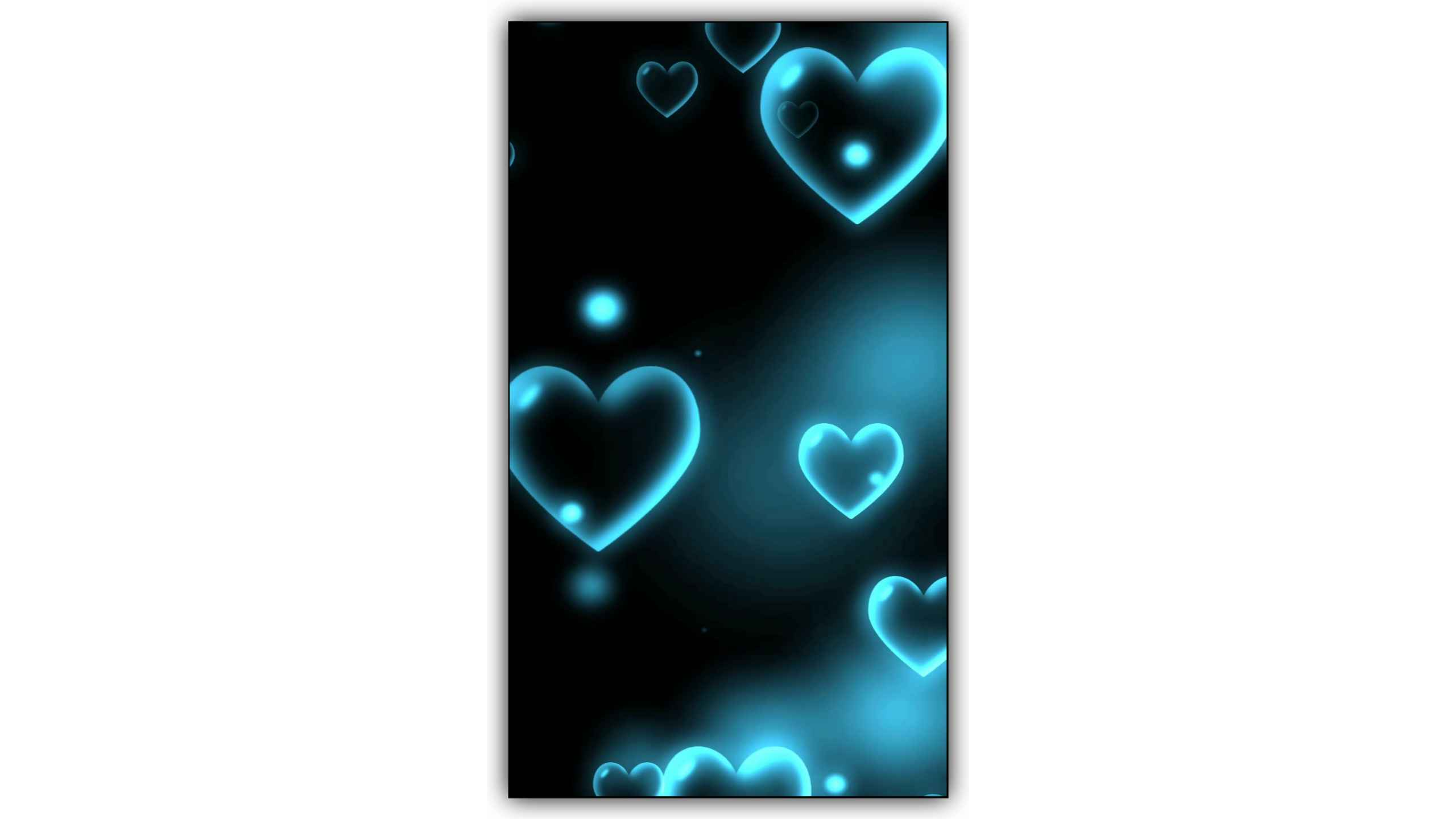 Blue Featuring Heart Particles Effect Video Background Kinemaster Template Free Download