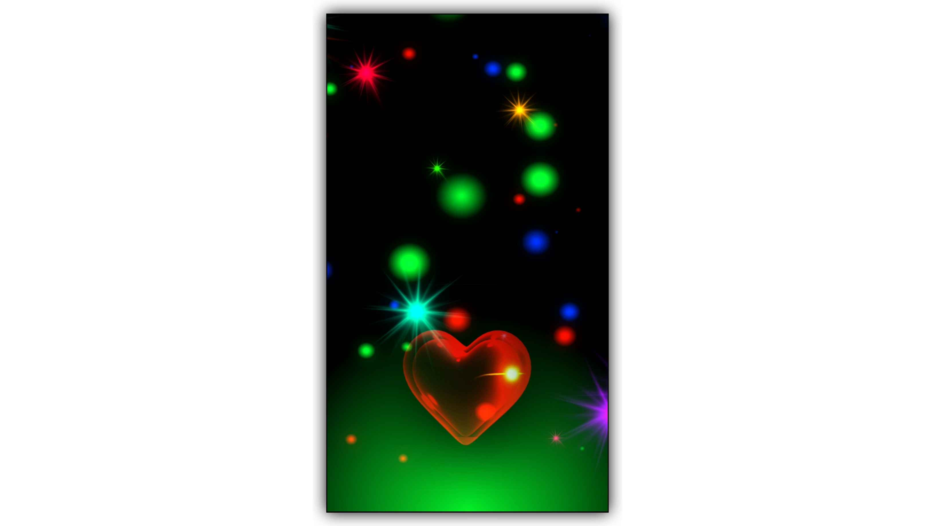 Hear Beat Love Effect Background Video Download