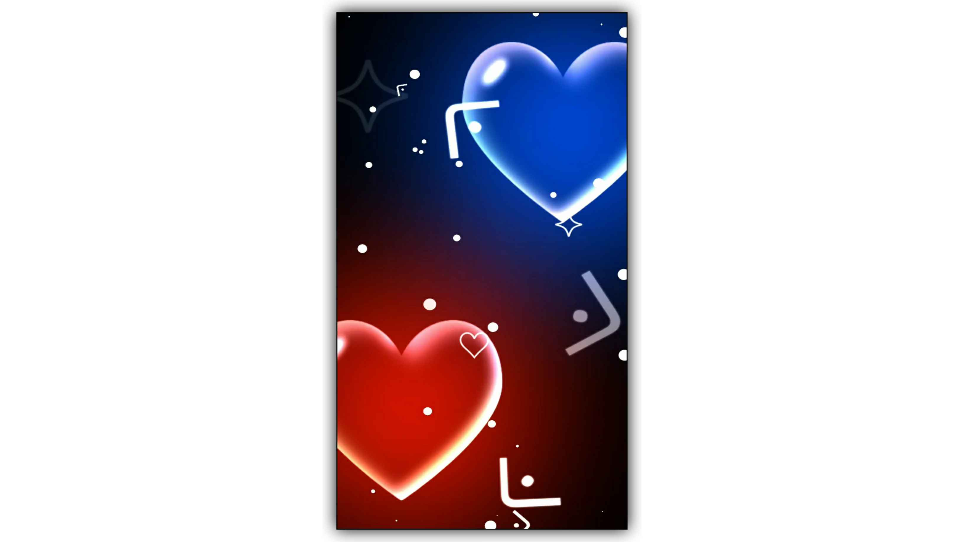 Love Heart Bubbles Effect Video Background Free Download