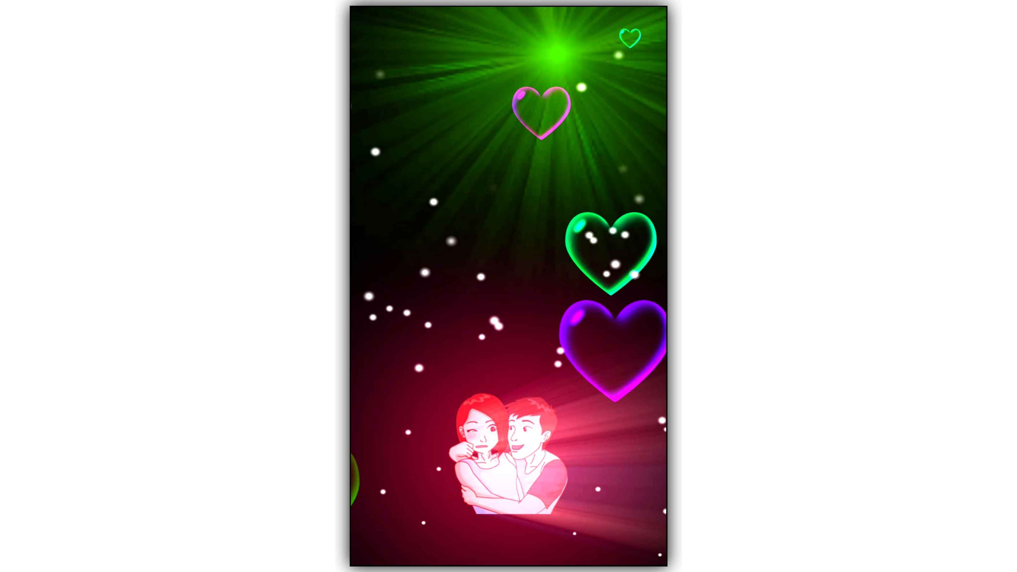 Love Couple Light Ray Effect Background Video