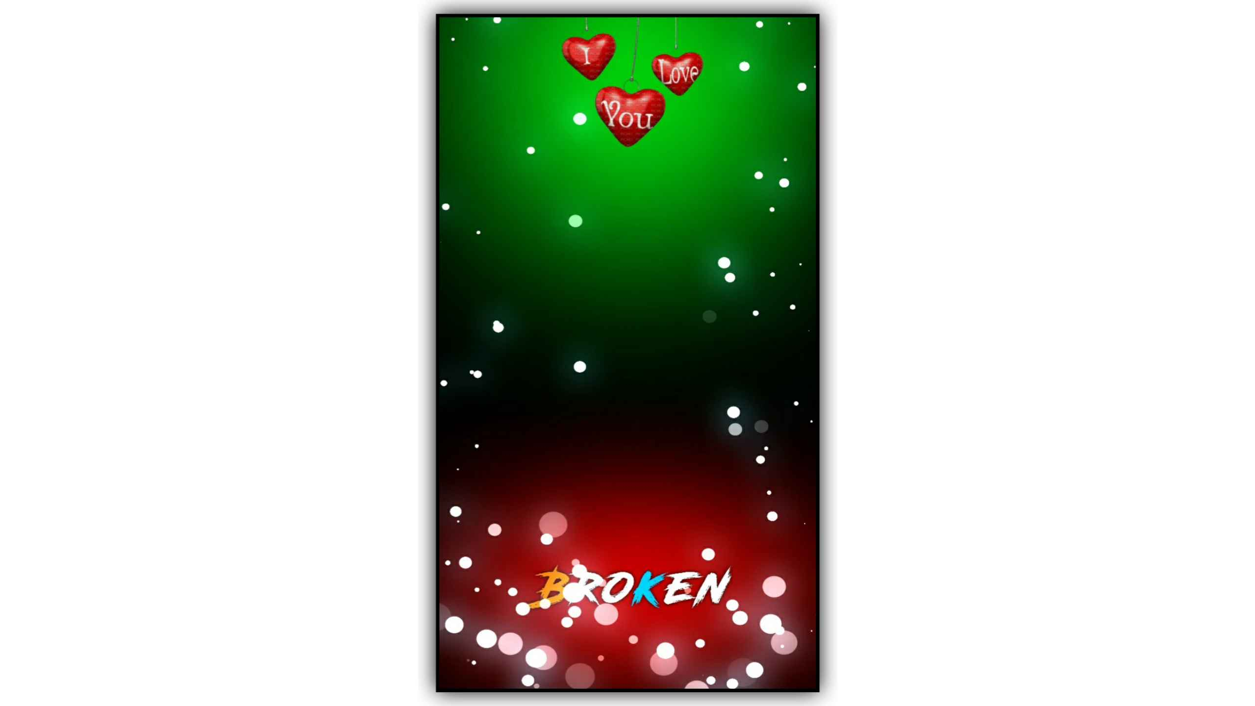 Love Heart Light Particles Background Effect Video
