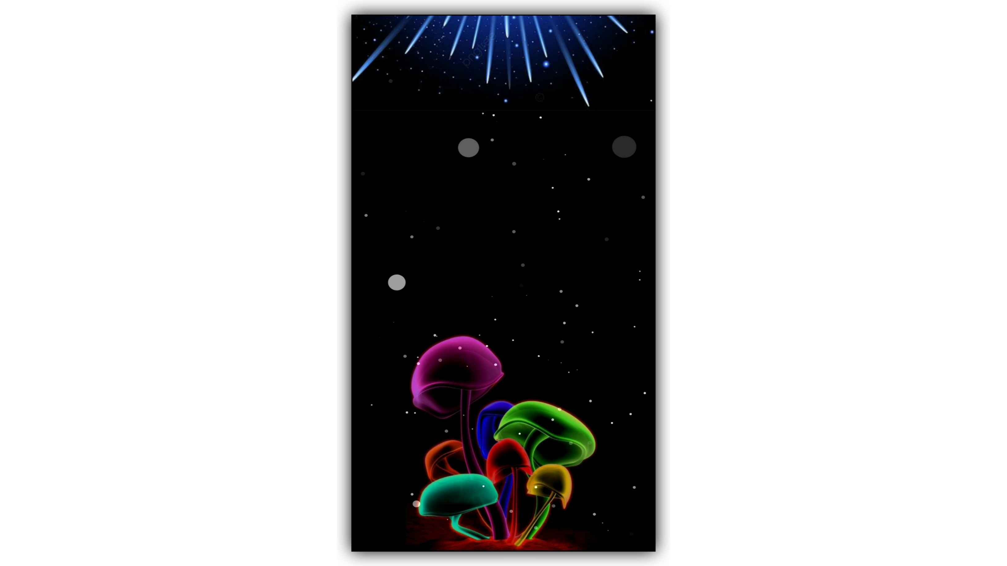 Amanita Muscaria Neon Background Effect Video Download Kinemaster Template