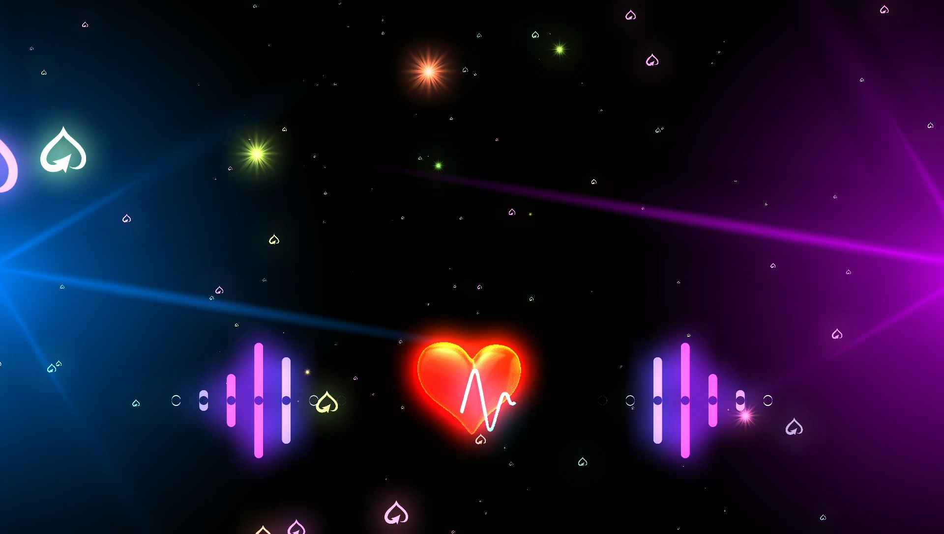 Star Cool Light With Heart Pump Background Video