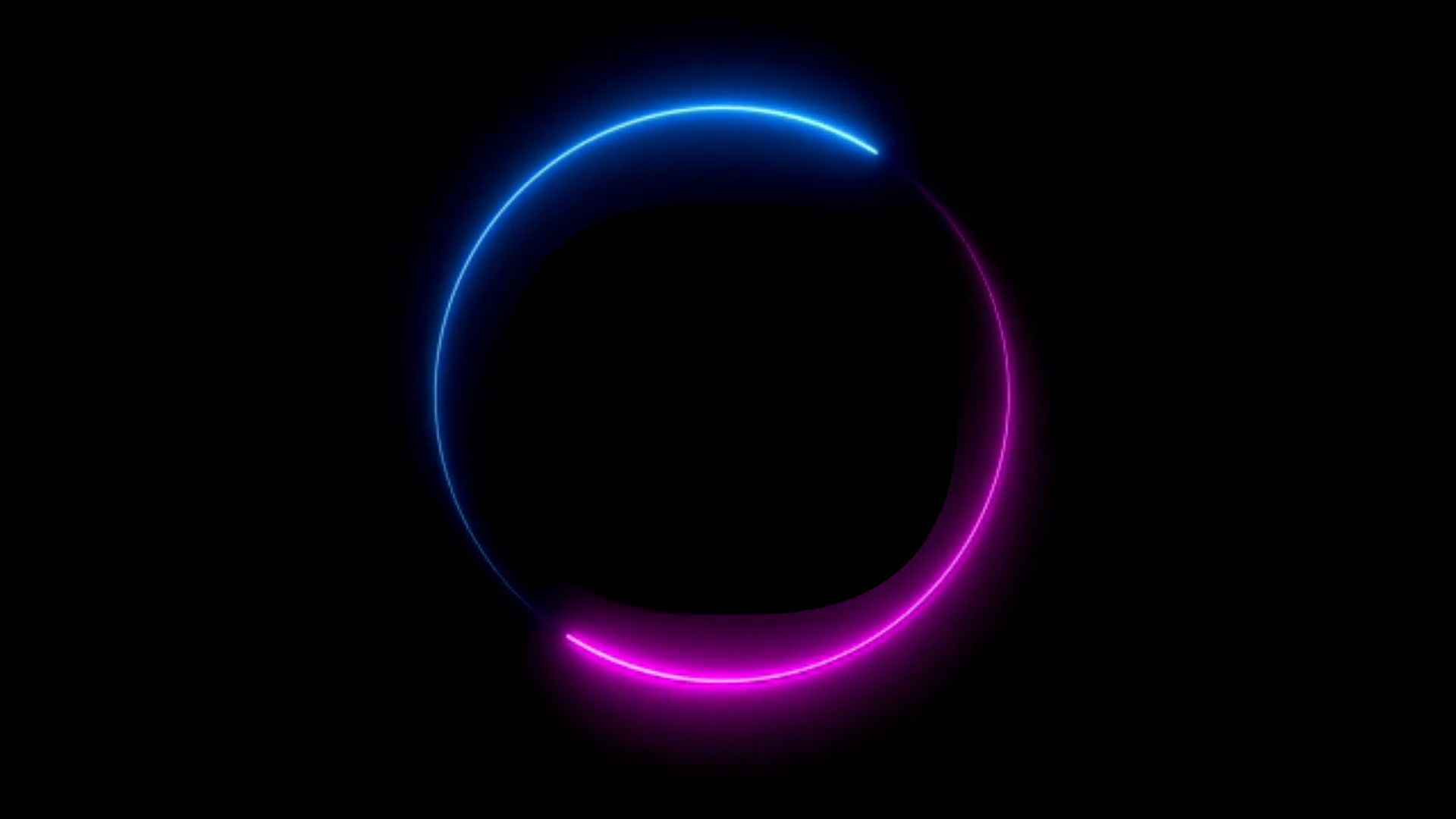 Neon Glowing Circle Background Video Effect
