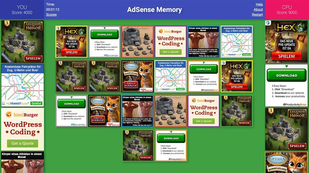 AdSense Memory [Serious Game]