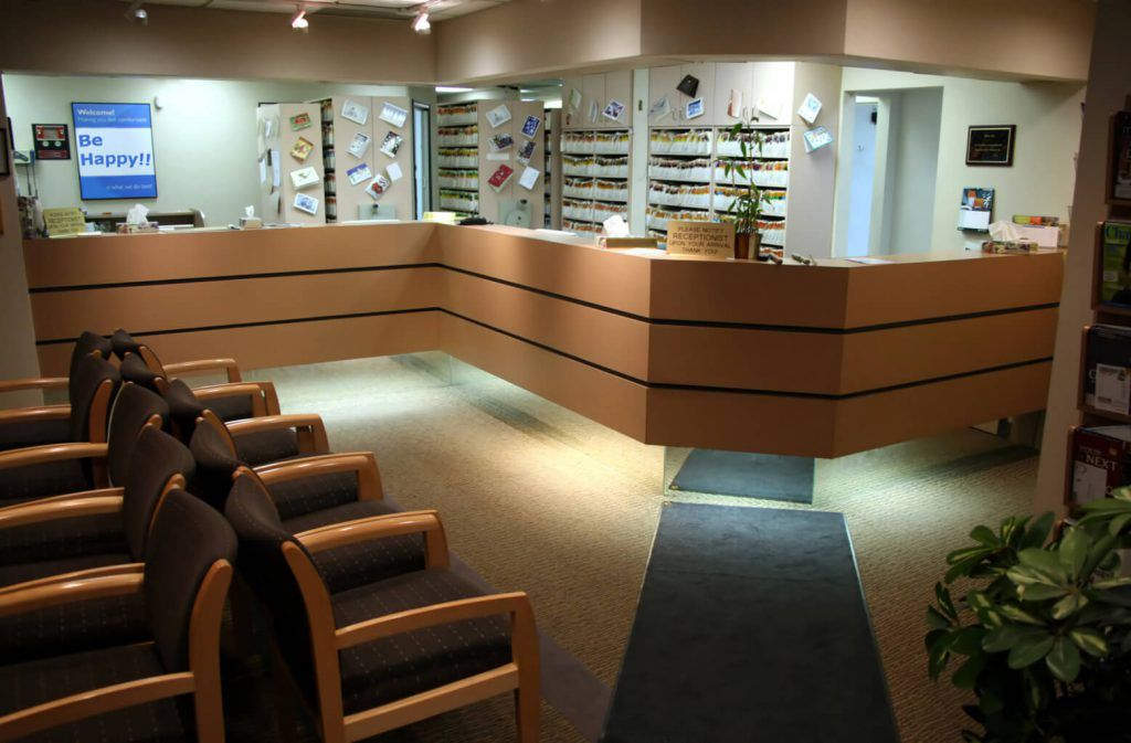 Empty doctor's waiting lounge