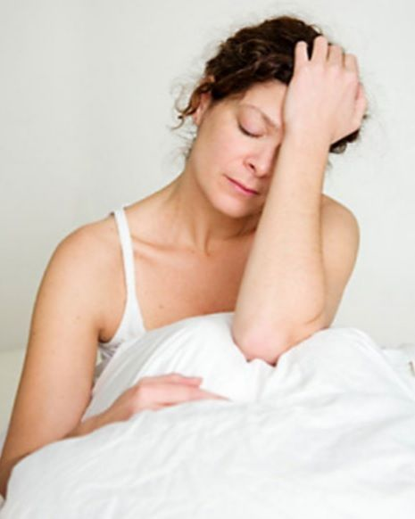 Menopausal woman suffering insomnia