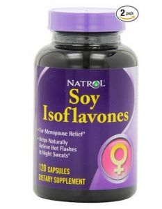 Soy isoflavone supplement packaging