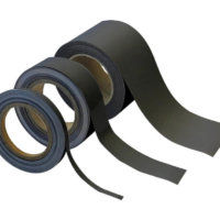 Matt Black Magnetic Easy Wipe Racking Strip - 10m Rolls
