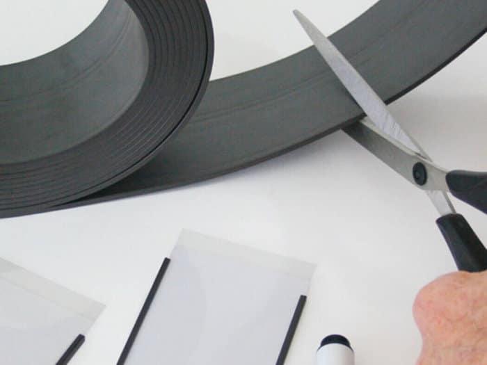 Matt Black Magnetic Easy Wipe Racking Strip - 10m Rolls