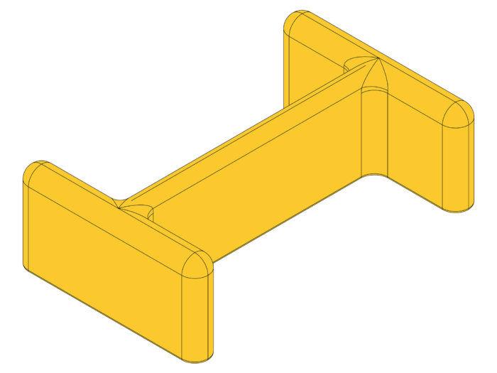 Armco Post Cap - Yellow