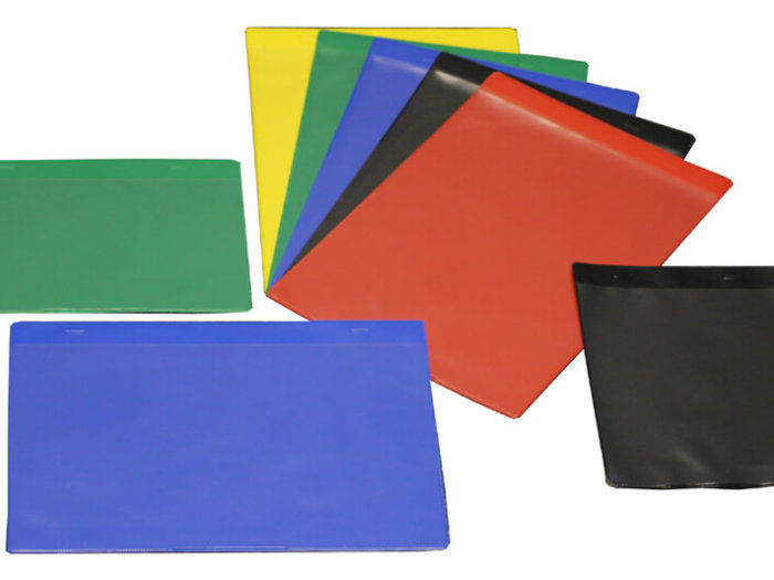Coloured Self-adhesive Document Pockets