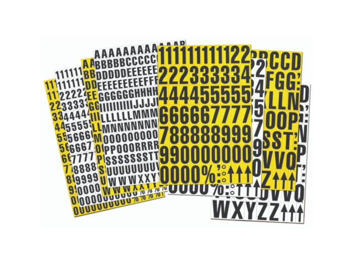 Magnetic Numbers and Letters