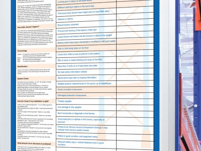 Racking Self Assessment Chart