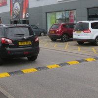 50mm speed bump in car park