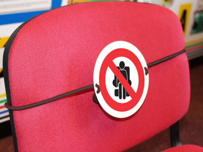 Social Distancing Seat Marker