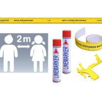 2m Social Distance Stencil Kit