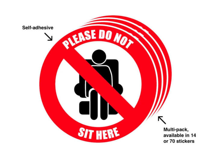 Social Distancing Seat Marker Labels