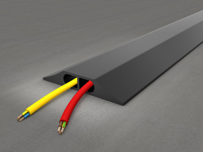 Cable Protector on Concrete