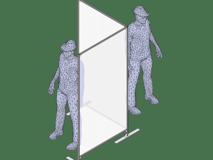 freestanding Perspex office screens