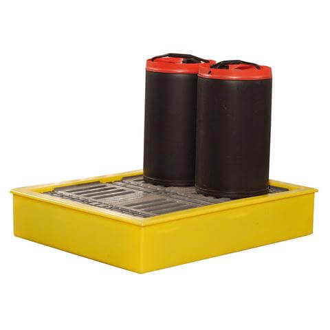 100 Litre Plastic Spill Tray With Drums
