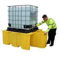 BC Spill Pallet With 4 Way Access With Pull Out