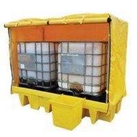 Covered IBC Spill Pallet for 2 IBCs