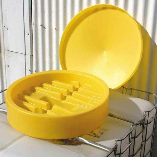 Yellow Plastic IBC Funnel and Lid