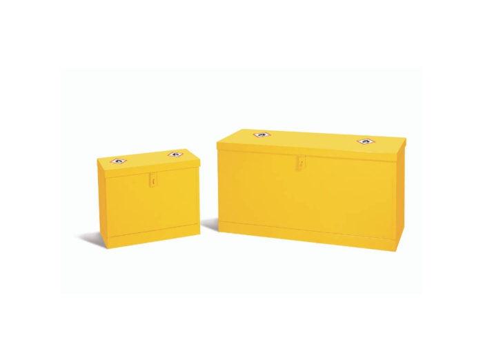 Yellow Hazardous Substance Floor Storage Chests