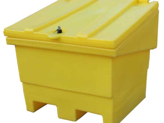 Yellow Grit Bin With Lock