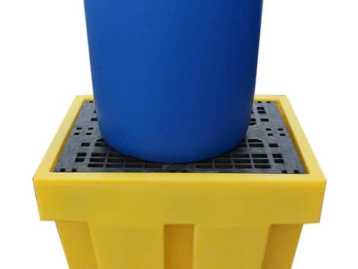 205ltr Yellow Plastic Drum Spill Pallet
