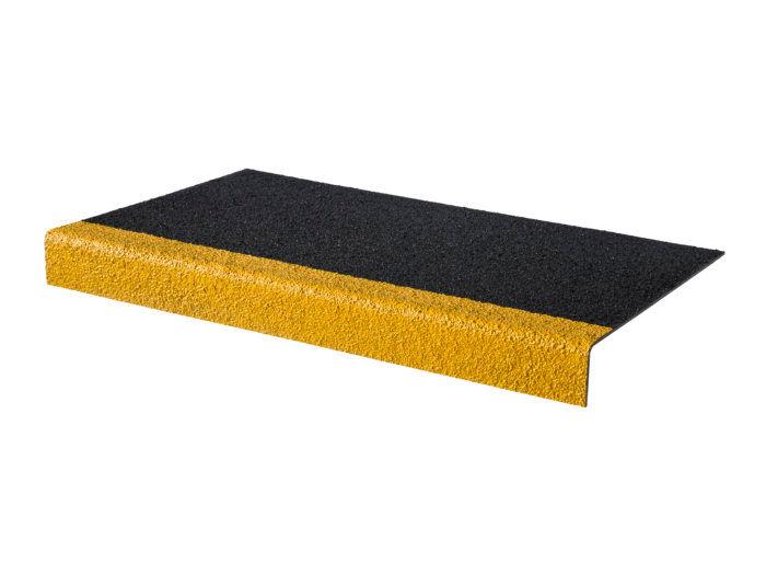 Black/Yellow GRP Stair Tread