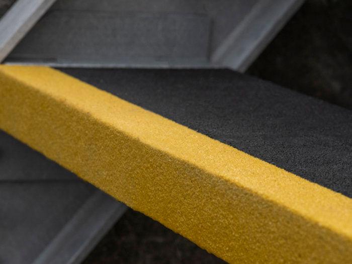 GRP Stair Tread- Black/Yellow